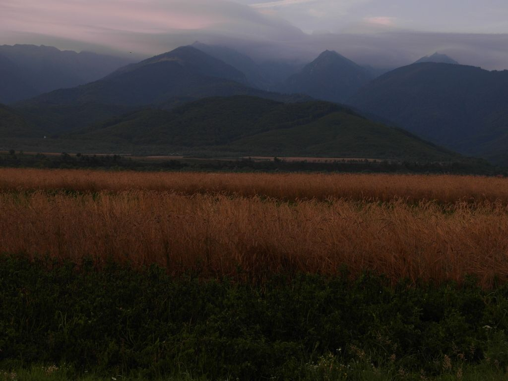 Karpaty od północnej strony o poranku