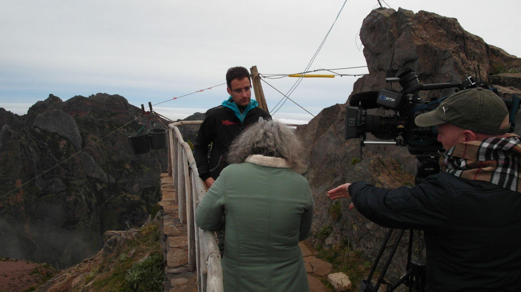 Wywiad dla lokalnej TV na szczycie